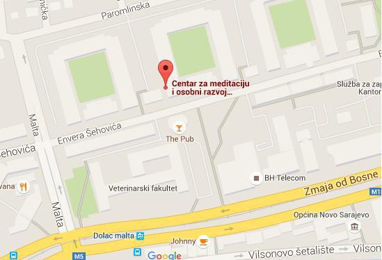 Lokacija Centra za meditaciju i osobni razvoj